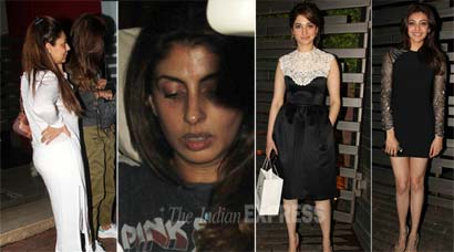 Gauri Khan, Shweta Nanda catch up; Kajal, Tamannaah dress up for dinner