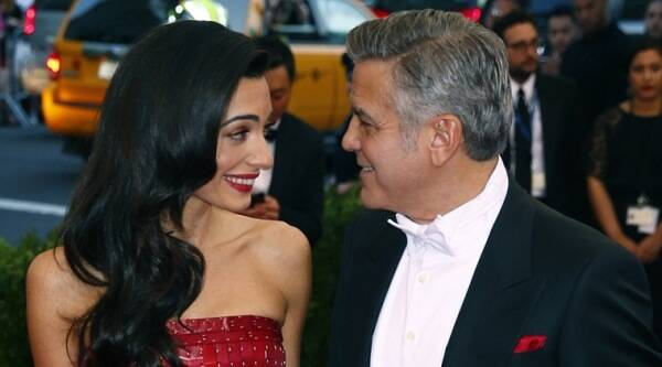 George Clooney, Amal Alamuddin, George Clooney Wedding Anniversary, George Clooney Amal alamuddin, George Clooney Wife, George Clooney Amal Alamuddin Wedding, George Clooney Amal Alamuddin Marraige, George Clooney Amal Alamuddin pics, Entertainment news
