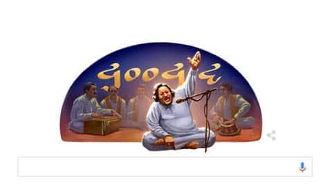 Google Doodle, Google Doodle today, Nusrat Fateh Ali Khan, Nusrat Fateh Ali Khan birthday, Google Doodle Nusrat Fateh Ali Khan, Nusrat Fateh Ali Khan Google Doodle, Google Doodle news, Trending News