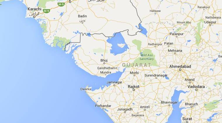This is the second such incident of firing on Gujarat fishermen within one month. (Source: Google map)