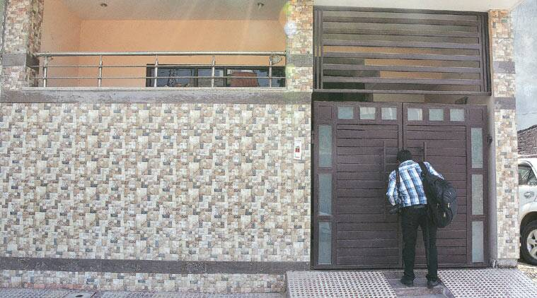 The residence of Sagar Jain in Gurgaon, from where the 14-year-old girl was rescued. (Source: Express photo by Manoj Kumar)
