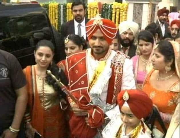 Harbhajan Singh, Harbhajan Singh marriage, Harbhajan Singh wedding, Harbhajan Singh wedding pics, geeta basra, geeta basra wedding pics, geeta basra marriage, Harbhajan Singh geeta basra wedding, Harbhajan Singh geeta basra wedding pics, Harbhajan Singh marriage pictures, Harbhajan Singh geeta marriage pictures, bhajji wedding, bhajji marrige pics, bhajji wedding pics
