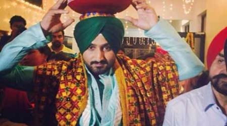 Cricketer Harbhajan Singh performing a wedding ritual. (Photo: Instagram)