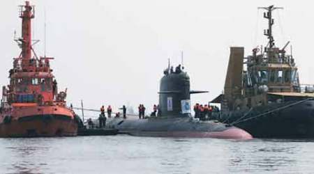 First indigeniously-built Scorpene  submarine brought back to thedocks
