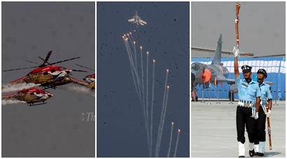 IAF performs aerial feats ahead of Air Force Day at Hindon base
