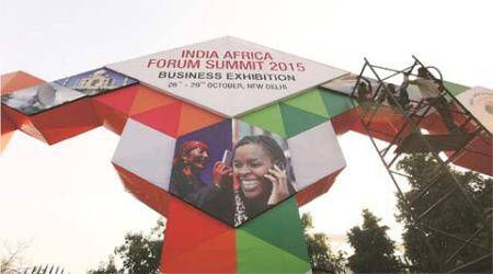Narendra Modi, India Africa summit, modi india Africa Summit, Nirmala Sitharaman, African deligates, United Nations reform, GDP growth, ieeditorial, the indian express
