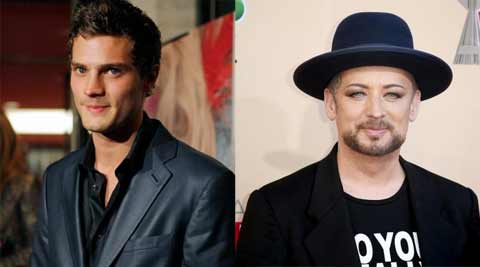 Fifty Shades of Grey star Jamie Dornan, Boy George star in charity sketch