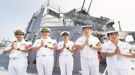 india, china, US, India Japan US naval exercise, INS Shivalik, JMSDF, JS Fuyuzuki, India latest news