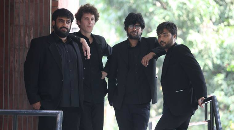 Members of Latino Jazz Band during press conference at Alliance Francaise in Sector 36 of Chandigarh on Tuesday, October 13 2015. Express Photo by Kamleshwar Singh