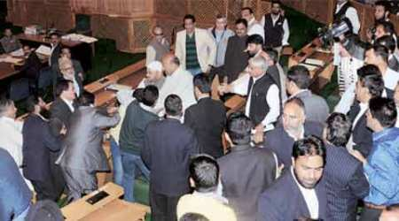 beef, jammu assembly, kashmir assembly, j k assembly, beef party, mla beef party, engineer rashid, ravinder raina, bjp, kashmir assembly violence, kashmir assembly beef, beef kashmir, beef ban, dadri, dadri beef, dadri lynching, india news, latest news, news