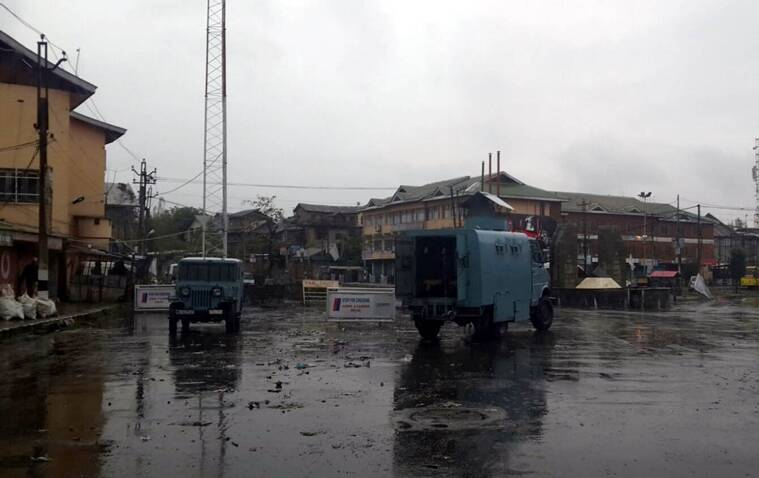 the J&K government has imposed curfew in several parts of the Valley. Express Photo/Shuaib Masoodi