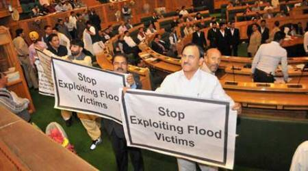 Protests rock J&K Assembly for second day