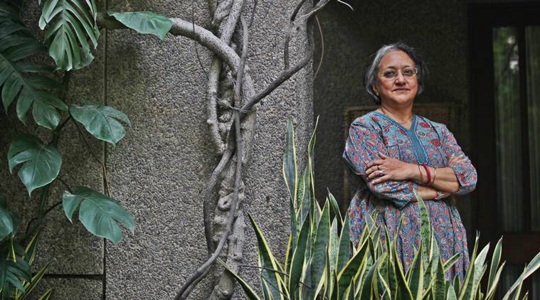 Manjula Padmanabhan, Artist, Theater actor and Writer at her residence in New Delhi. Express Photo by Tashi Tobgyal New Delhi 150915