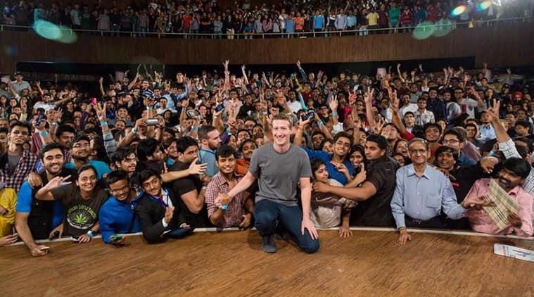 Zuckerberg in delhi, mark zuckerberg, mark zuckerberg iit delhi,