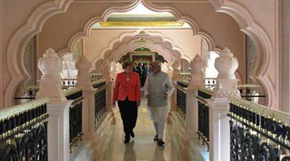 PM Narendra Modi, Angela Merkel share 'Make in India' dream in Bengaluru