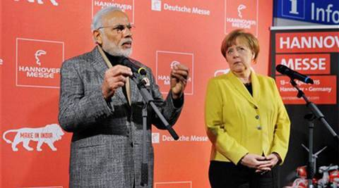 Narendra Modi, Angela Merkel, modi merkel, Narendra Modi Angela Merkel, smart cities, smart cities project, German Chancellor, German Chancellor india, Indo-German relations, indian express, business news