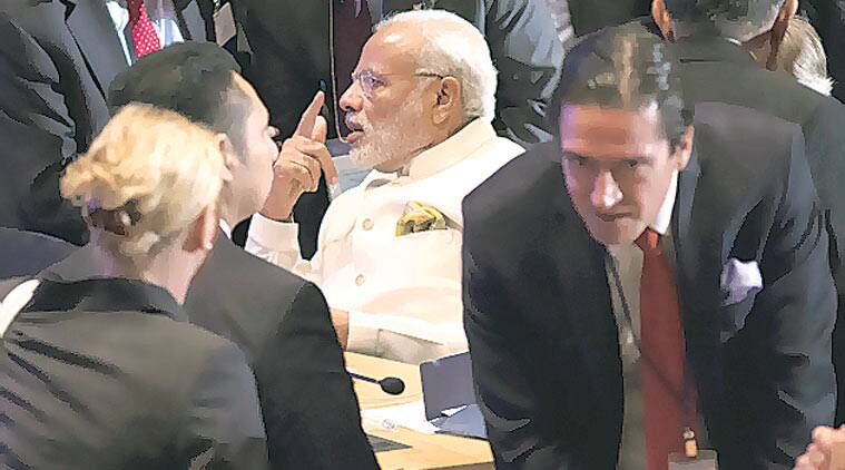 Modi at the UN peacekeeping summit in New York on September 28. Reuters
