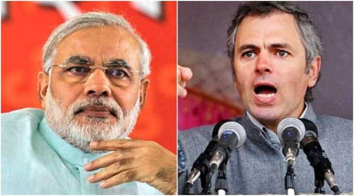 Prime Minister Narendra Modi (left) and former J&K CM Omar Abdullah (right)