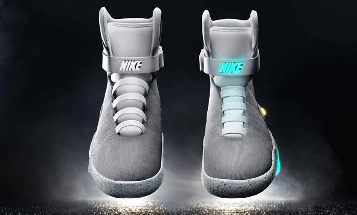 Nike Mag, Nike Back to the Future Shoes, Back to the Future Day, Nike Mag power-laces, Nike power-lace shoes, Nike power shoes, shoes, technology, technology news