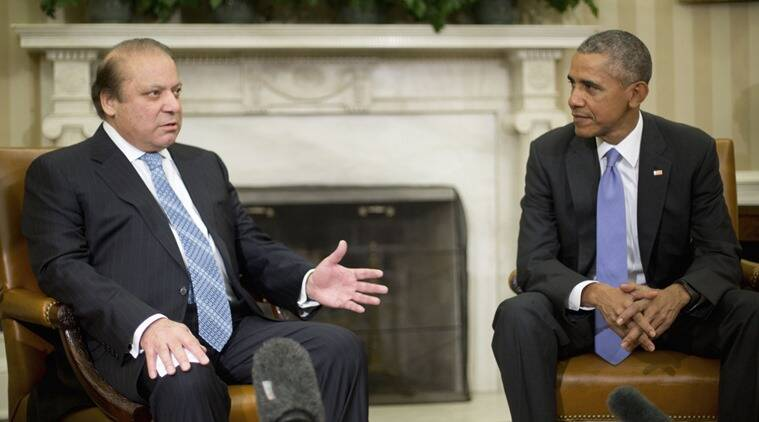 President Barack Obama meets with Pakistani Prime Minister Nawaz Sharif in the Oval Office of the White House in Washington, Thursday, Oct. 22, 2015. (AP Photo/Pablo Martinez Monsivais)