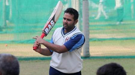 Gujrat team captain Parthiv Patel during practice session on the eve of Ranji Trophy match against Punjab at PCA Stadium in Mohali on Wednesday, November 20 2013. Express photo by Jaipal Singh