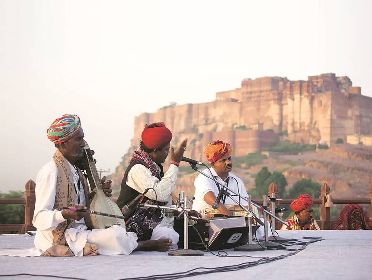 A performance at Jaswant Thada last year