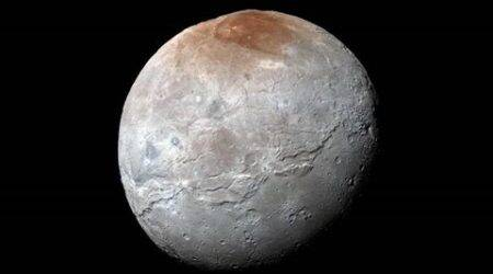 Charon, Red spot charon, charon red spot, ploto, pluto atmosphere, methane gas pluto, tech science, science news, latest news, Indian express, charon north pole