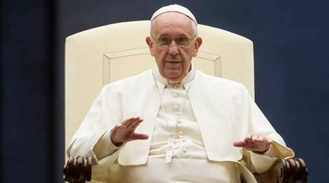 Pope Francis asserts marriage is forever at start of family meeting