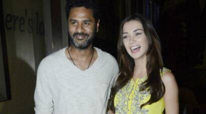 Amy Jackson, Prabhu Dheva at screening, promotions of 'Singh is Bliing'