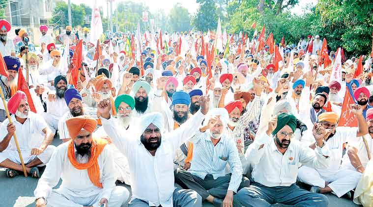 moga farmers, protest, india news, indian express news