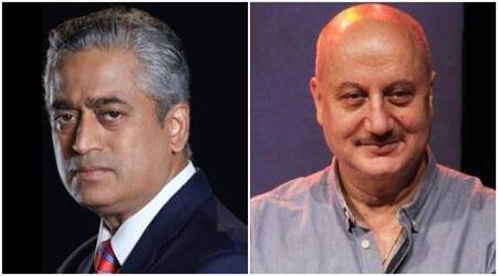 Journalist Rajdeep Sardesai has spat on Twitter with actor Anupam Kher