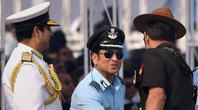 Sachin Tendulkar joins Air Force Day celebrations