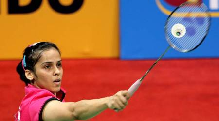 India's Saina Nehwal in action at the Semi-final match against Yui Hashimoto of Japan during the India Open 2015 in New Delhi on March 28th 2015. Express Photo by Ravi Kanojia.