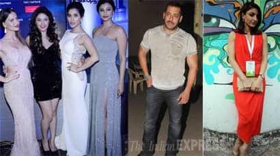 Salman Khan, Taapsee Pannu, Sophie Choudry, Elli Avram, Daisy Shah, Manjari Phadnis, Manjari Phadnis, salman khan pics, salman khan in studio, entertainment, bollywood