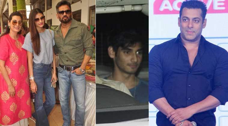 Salman Khan, Suniel Shetty, Athiya, Ahan, Aahan