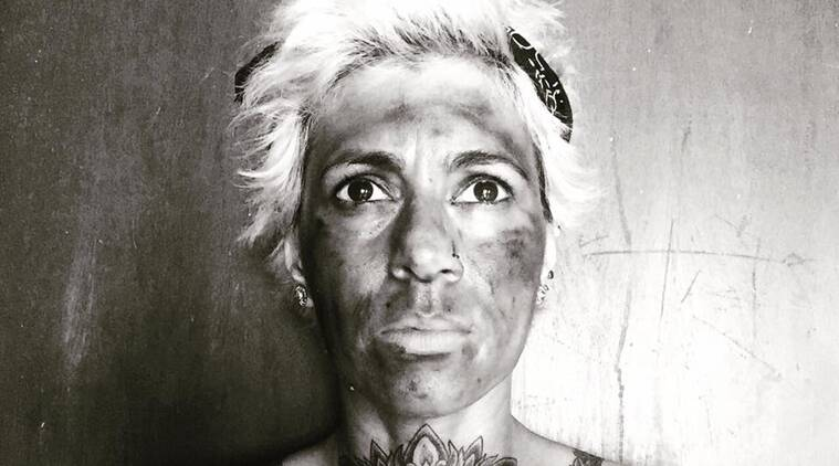 Colour Me Black: Sapna Bhavnani says she has blackened her face because she's ashamed of her country's silence on important issues (Source: Facebook/Sapna Bhavnani)