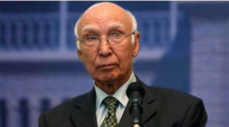 Heart of Asia, HOA, Sartaj Aziz, Aziz, Abdul bashit, Sushma swaraj, Sartaz Ajiz Amritsar, Sartaj Aziz heart of asia, Heart of Asia conference, India, Pakistan, Indo-pak, Indo-pak relations, indo-pak tensions, Nagrota attack, Pathankot attack, Uri attack, india news, indian express news