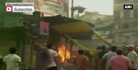 Varanasi: Violence Breaks Out During Protest March, Vehicles Set Ablaze