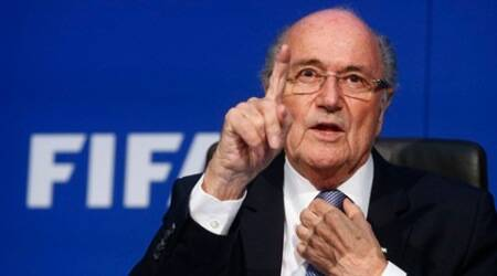 FIFA President Sepp Blatter gestures during a news conference after the Extraordinary FIFA Executive Committee Meeting at the FIFA headquarters in Zurich, Switzerland in a July 20, 2015 file photo. The Coca-Cola Co called on Friday for FIFA's President Sepp Blatter to step down immediately following Swiss authorities saying they were opening a criminal investigation into the head of the world soccer body.   REUTERS/Arnd Wiegmann/Files