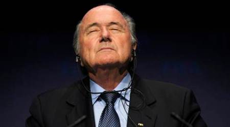 FILE - In this Nov. 19, 2010 file photo FIFA President Sepp Blatter pauses during a press conference following a meeting of the Executive Committee in Zurich, Switzerland.  (AP Photo/Keystone/Steffen Schmidt)