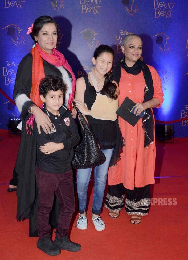 Bollywood celebs and their kids watch 'Beauty and the Beast' musical