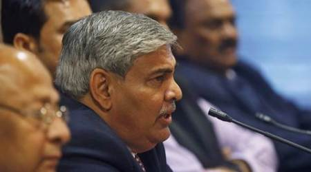 Shashank Manohar, newly-elected president of Board of Control for Cricket in India (BCCI), speaks during a news conference in Mumbai October 4, 2015. Manohar vowed to clean the image of the BCCI after being chosen on Sunday to head the world's richest cricket board for a second time. REUTERS/Shailesh Andrade