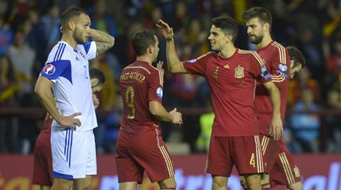 Spain secure Euro 2016 berth with 4-0 win over Luxembourg