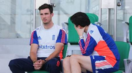 Cricket - England Nets - Zayed Cricket Stadium, Abu Dhabi, United Arab Emirates - 12/10/15 England's Steven Finn during nets Action Images via Reuters / Jason O'Brien Livepic