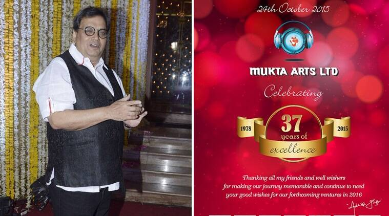 Subhash Ghai, Mukta Arts, Subhash Ghai Banner, Filmmaker Subhash Ghai, Mukta Arts 37 Years, Entertainment news