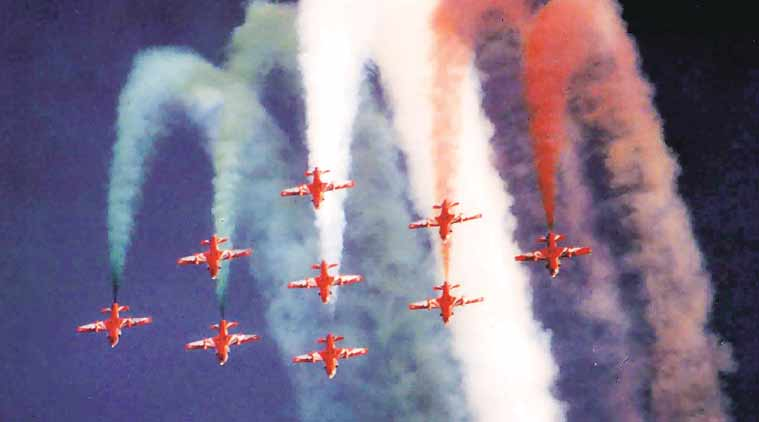 Indian Air Force, Surya Kiran, Air Force aerobatics team, Surya Kiran aerobatics team, Hindustan Aeronautics Limited, Hawk Mk132 aircraft, indian express