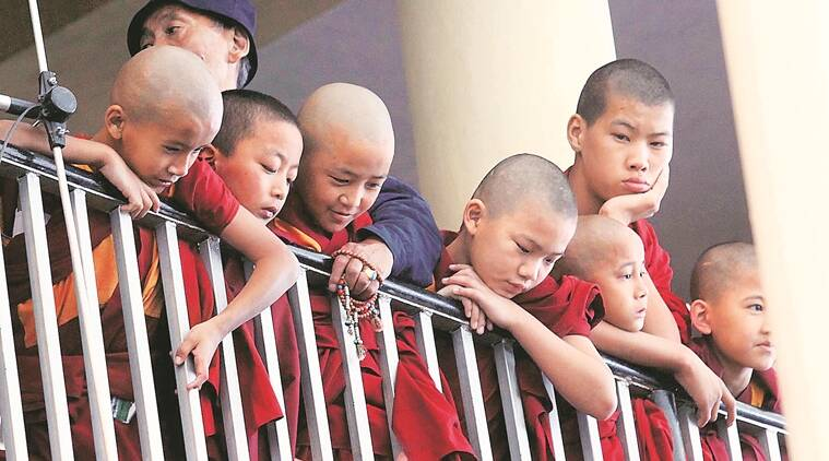 Young monks in McLeodganj