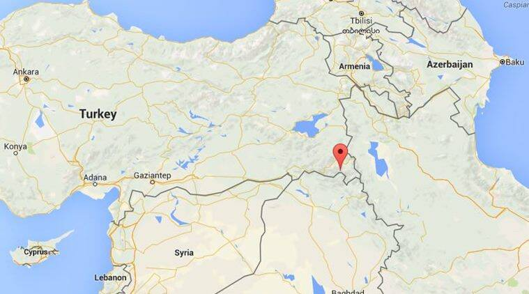 Four soldiers were killed in several days of intense battles, some involving helicopters, in the mountainous Daglica region near the Iraqi border, the source said, while about 20 rebels died. (Source: Google map)