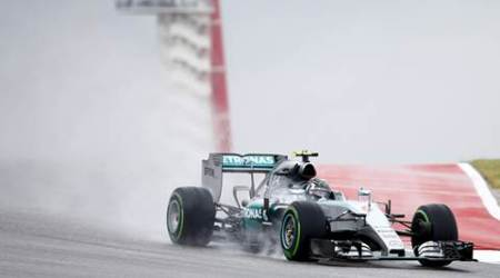 Mercedes Formula One driver Nico Rosberg of Germany drives during the first practice session of the U.S. F1 Grand Prix at the Circuit of The Americas in Austin, Texas, October 23, 2015. REUTERS/Mike Stone