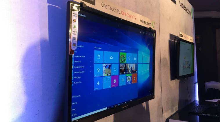 Videocon, Videocon Windows powered TV, Worlds first Windows powered TV, Windows 10, Videocon TV, smart TV, gadget news, gadgets, Windows, Microsoft Windows, tech news, technology
